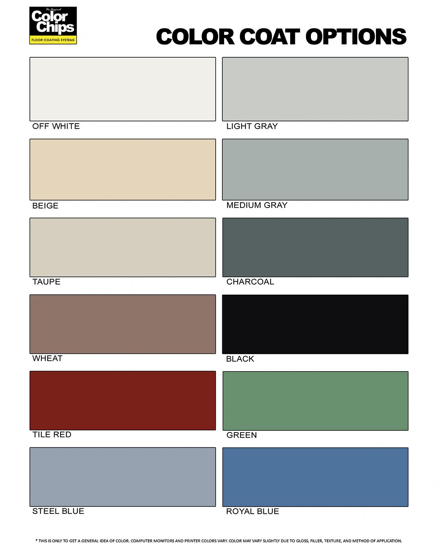 Epoxy colors epoxy floors painting for Parquet flooring colours